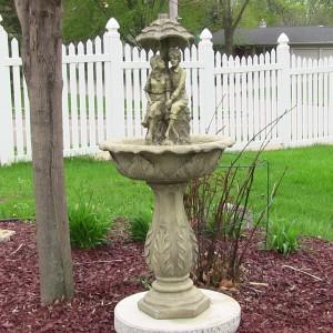 15.  Outdoor Garden Fountain