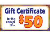 20. Gift Certificate