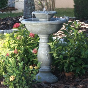 34222RM1 Country Garden 2Tier SolaronDemand Fountain life style
