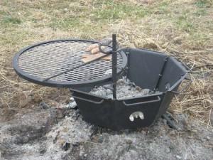 Backyard Grilling Fire Pit