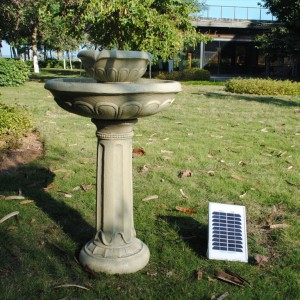 Chelsea Solar on Demand Two Tiered Birdbath Fountain