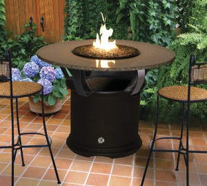 Del Mar Bar Fire Pit Table