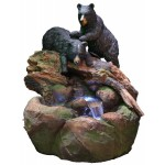 2 Bears Log Stream Fountain