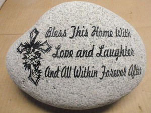 Large Engraved Stone