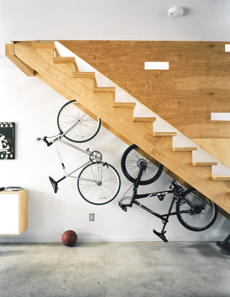 Bike Rack Under Stairs