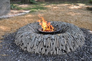Blue Stone Fire Pit