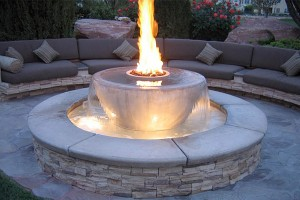 Fire on Water Fountain