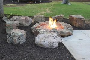 Moss Rock Fire Pit