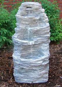 Four Tier Rock Falls Outdoor Water Fountain