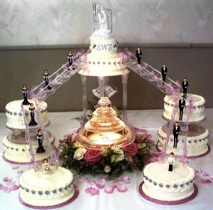 wedding fountain cake